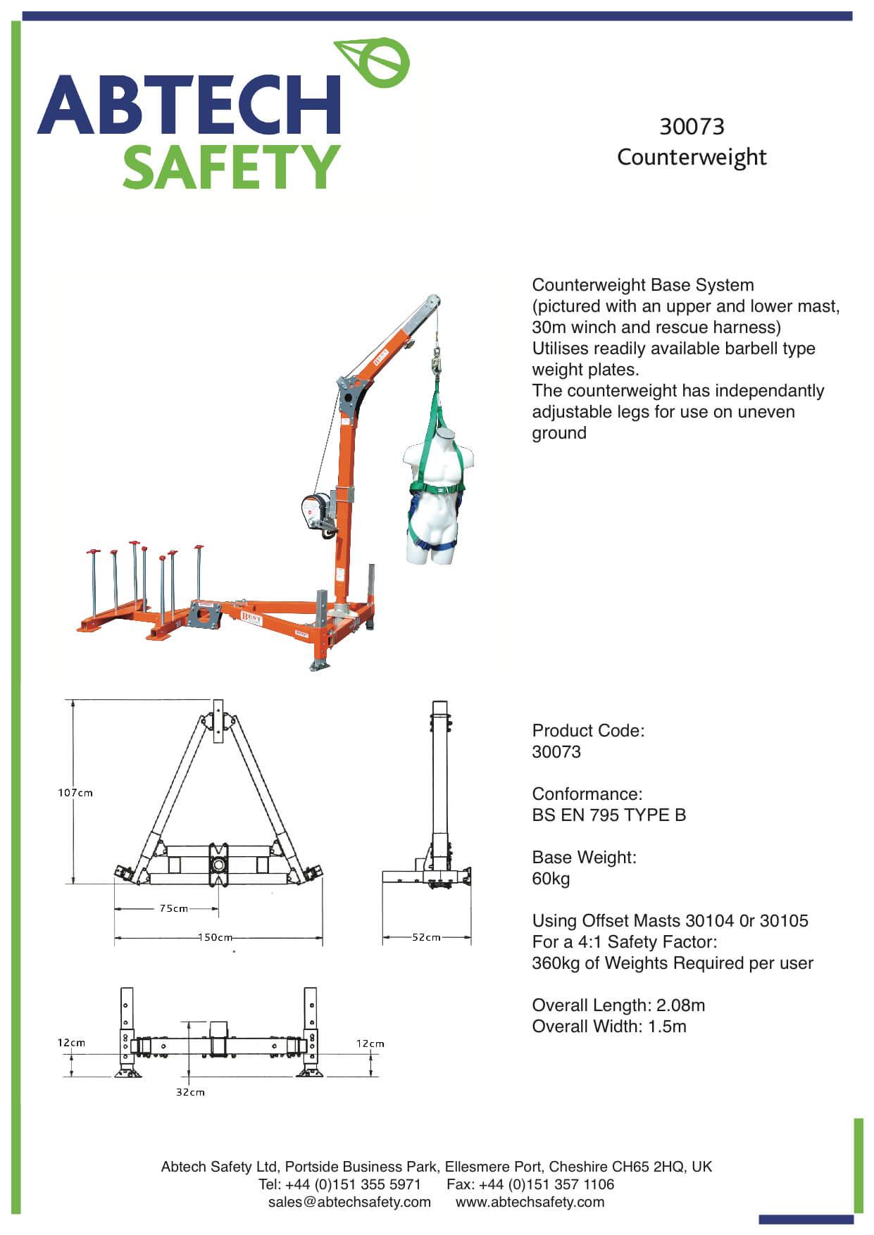 Abtech Counterweight Davit Arm Kit