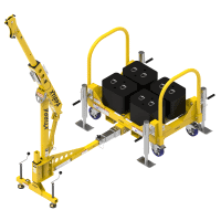 Counterweight 610mm Arm Davit System c/w Fall Arrest Recovery Device, Man Riding Winch & Brackets