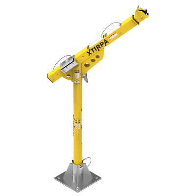 Fixed Post 2400mm Davit Arm System c/w Fall Arrest Recovery Device, Man Riding Winch & Brackets