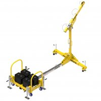 Counterweight 1200mm Arm Davit System c/w Fall Arrest Recovery Device, Man Riding Winch & Brackets