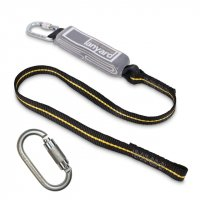Fall Arrest Lanyard with shock absorber 1-2m - with Karabiner