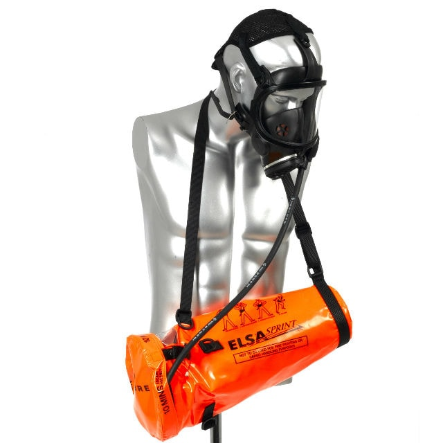 10 Minute Escape Breathing Apparatus Set - Masked