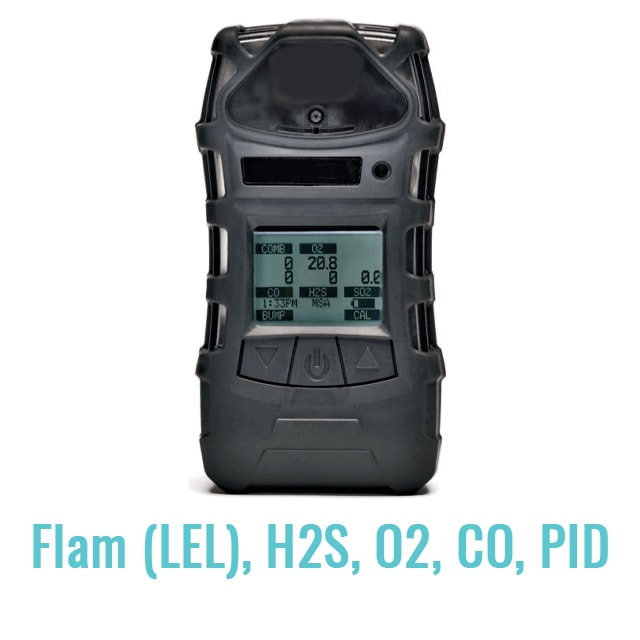 PID Gas Monitor - Multi Gas (Flam (LEL), H2S, O2, CO, PID)