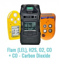 Specialist Multi Gas Monitor (Flam (LEL), H2S, O2, CO + CO - Carbon Dioxide)