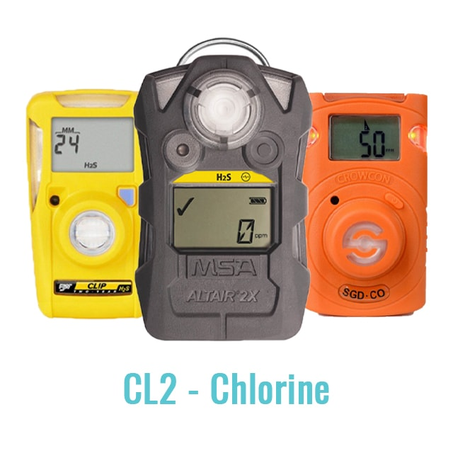 Specialist Single Cell Gas Monitor - (CL2 - Chlorine)