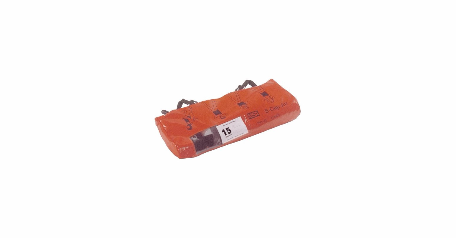 Msa S Cap Air Hooded Escape Set Composite Cylinder